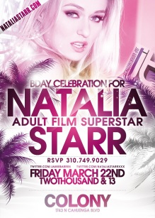 Adult Star Natalia Starr Birthday at Colony Hollywood Nightclub