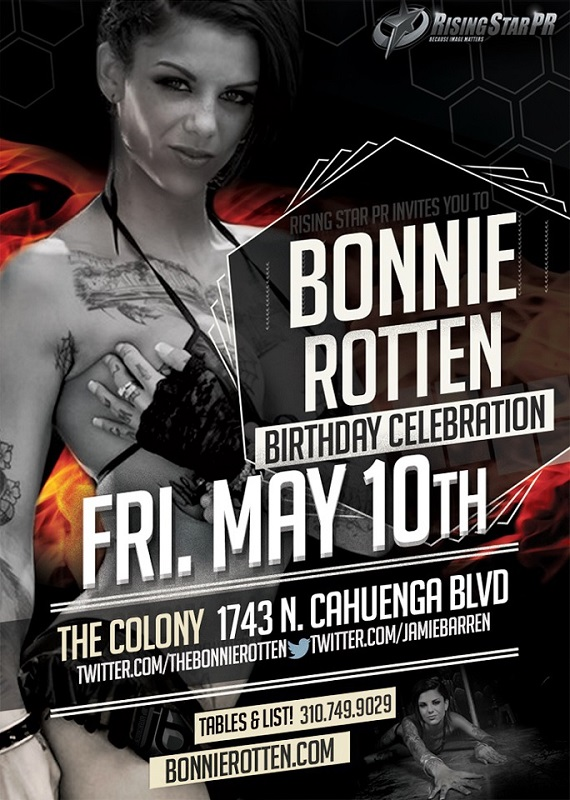 Adult Star Bonnie Rotten Birthday at Colony Nightclub