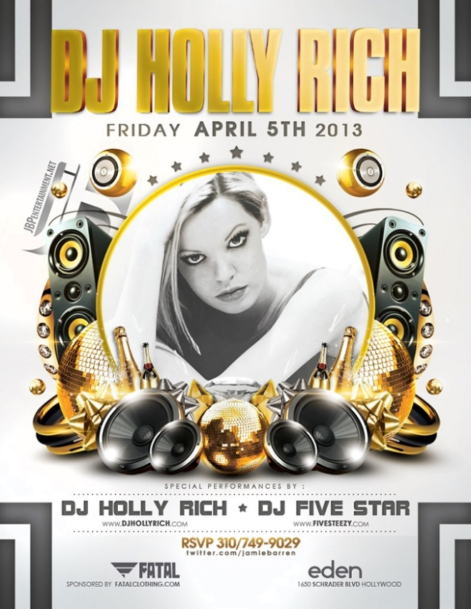 Dj Holly Rich and Fatal Clothing Party at Eden