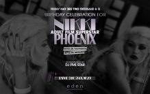 Adult Star Nikki Phoenix Birthday at Eden