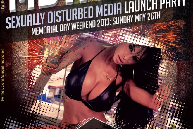 Angelina Valentine MDW 2013 at Supperclub LA