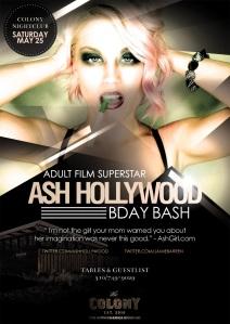Adult Star Ash Hollywood Birthday at Colony Nightclub