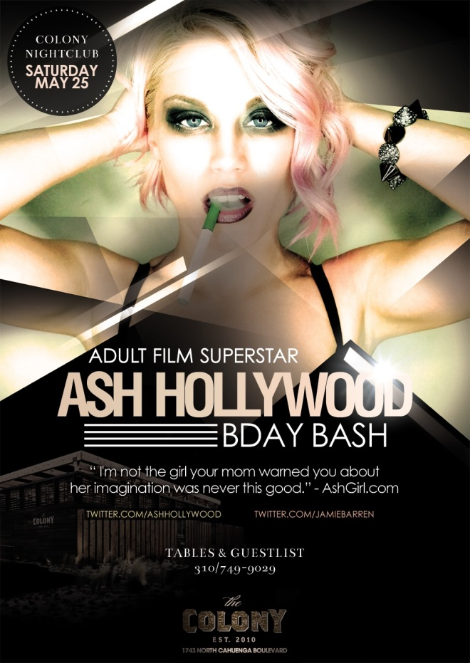 Adult Star Ash Hollywood Birthday at Colony Nightclub