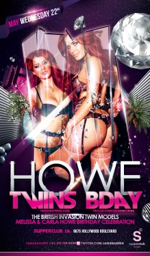 UK Playboy Model Howe Twins Birthday at Supperclub LA