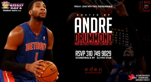 NBA Pistons Andre Drummon Hosts Eden Fridays
