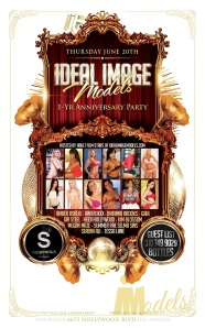 Ideal Image Models Anniversary Party at Supperclub LA