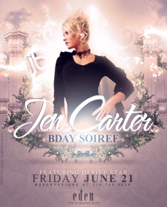 Actress Jen Carter Birthday at Eden Hollywood