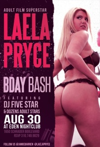 Adult Star Laela Pryce Birthday at Eden