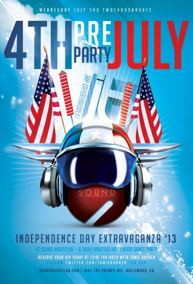 """Pre-4th July Celebration at Sound Nightclub"""
