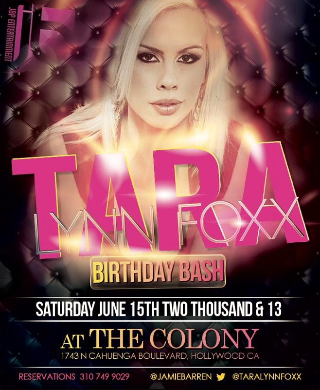 Adult Star Tara Lynn Foxx Birthday At Colony La La Party