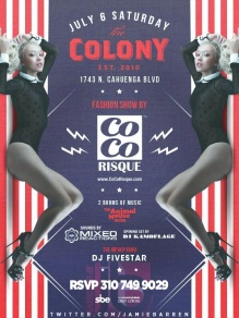 """Colony Hollywood Fashion Show Saturday, July 6th 2013"""