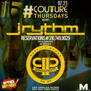 Prospect Clothing Party Thursday at Couture Nightclub LA