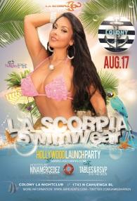 """Nina Mercedez LA Launch Party for La Scorpia Swimwear"""