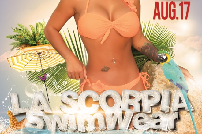 """Nina Mercedez LA Launch Party for La Scorpia Swimwear"""