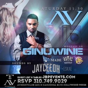 """""""Ginuwine Hosts AVnightclub flyer image"""""""