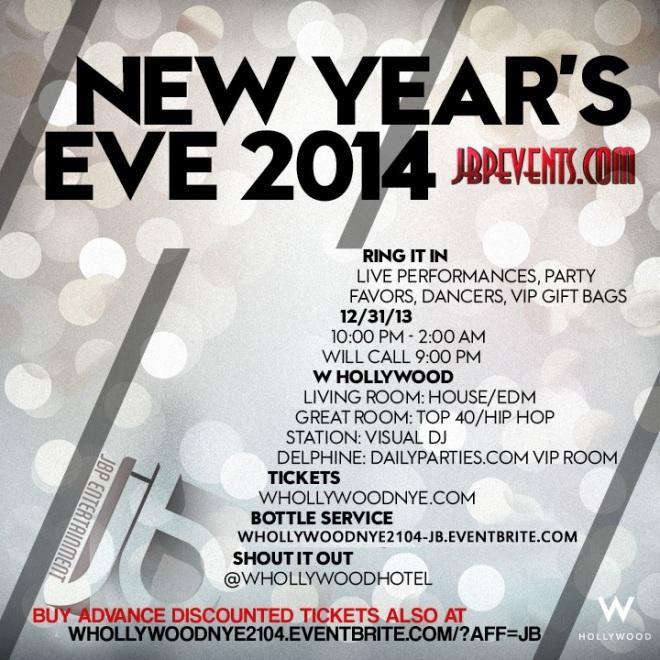 """W Hollywood NYE 2014 flyer image"""