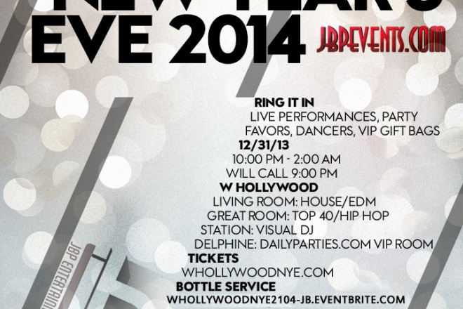 """W Hollywood NYE 2014 flyer image"""