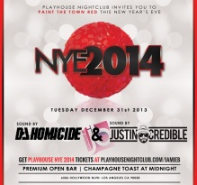 """Playhouse Hollywood NYE 2014 flyer800x750"""