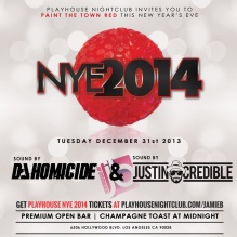 """Playhouse Hollywood NYE 2014 flyer800x750"""