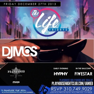 """Playhouse Hollywood Fridays 2013 December 27 flyer image"""