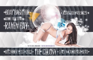 """Adult Star Raven Bay Birthday Colony flyer image"""