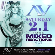 """AV Nightclub Saturdays 2014 February 1 flyer 615x615"""