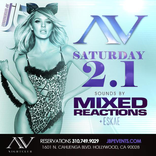 """""""AV Nightclub Saturdays 2014 February 1 flyer 615x615"""""""