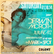 """""""Colony Hollywood Party Bus Packages 2014 January 18 flyer 650x650"""""""