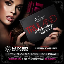 """Mixed Reactions Tru Hollywood Saturdays flyer 640x640"""