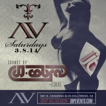 """AVnightclub Hollywood Saturdays 2014 March 8 flyer675x675"""