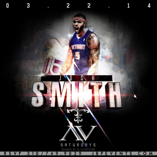 """Josh Smith and Detroit Pistons Host AV Nightclub 900x900"""