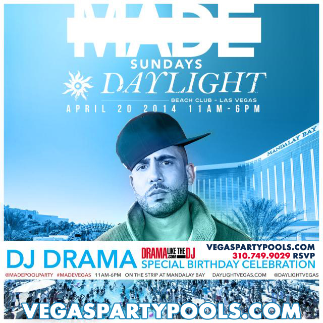 Daylight Beach Club Vegas Pool Parties DJ Drama Birthday