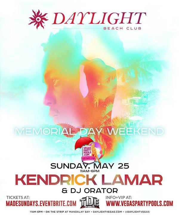 """MDW 2014 Kendrick Lamar Vegas Daylight"""