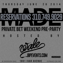 """Private BET Weekend Pre-Party Project Club LA"""