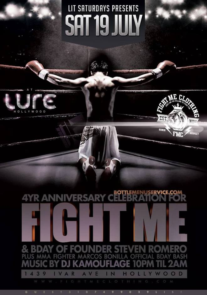 """Fight Me Clothing Anniversary Saturday Lure"""