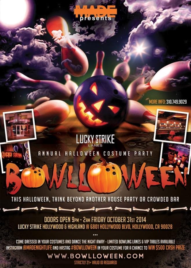 """""""Bowlloween Hollywood 2014 LA Halloween"""""""