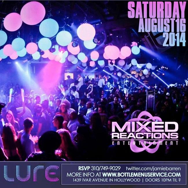 """Lure Hollywood Nightclub Saturday August 16"""