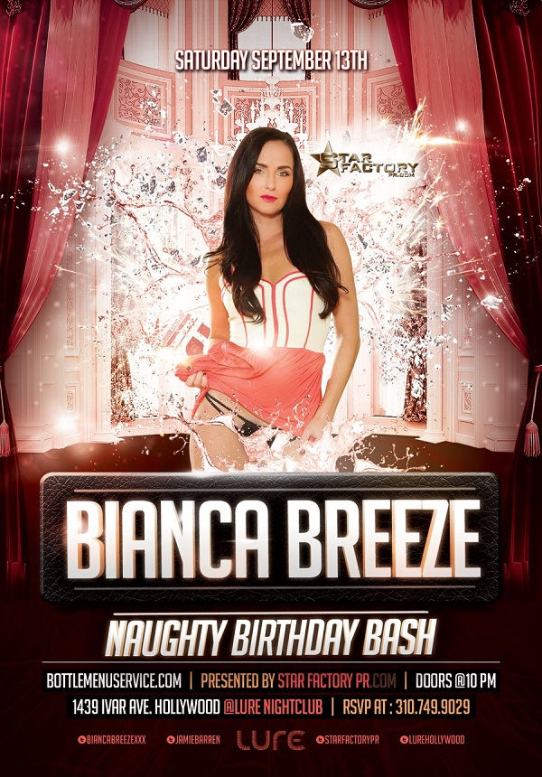 """Bianca Breeze Birthday at Lure Nightclub"""