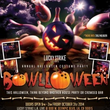 """Halloween 2014 at Lucky Strike LA Live"""