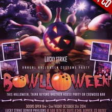 """""""Bowlloween 2014 Denver Halloween"""""""