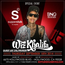 """Wiz Khalifa at Supperclub Hollywood"""