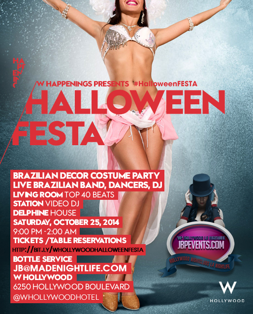 """W Hollywood Halloween Festa 2014"""
