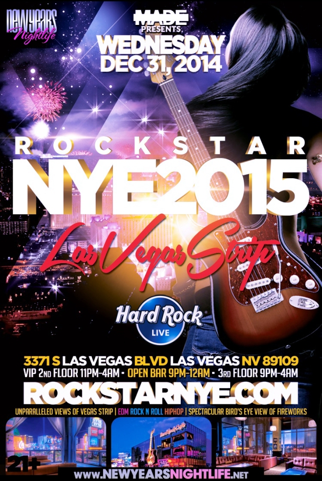 """Hard Rock Star Vegas NYE 2015"""
