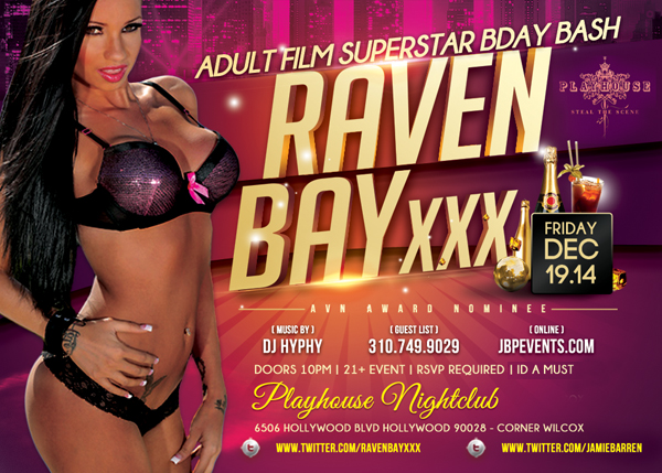 Adult Star Raven Bay Birthday at Playhouse