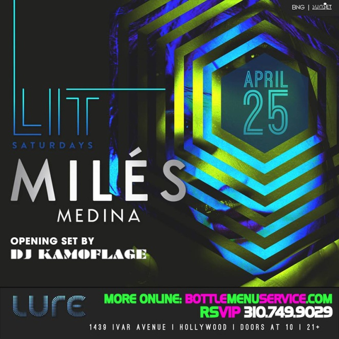 Lure Hollywood Saturdays 2015 April 25th