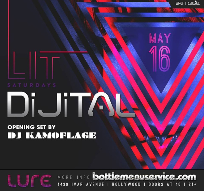 Lure Hollywood Saturday May 16th