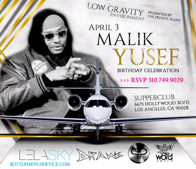 Supperclub LA Celebrates Malik Yusef Birthday