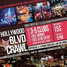 Friday Hollywood Club Crawl Tour