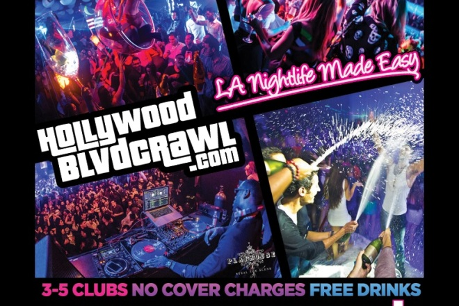 Saturday Hollywood Club Crawl