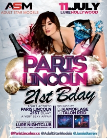 Lure Hollywood Adult Star Paris Lincoln Birthday
